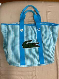 SOLD-Lacoste beach terry bag