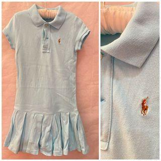 Ralph Lauren (cut tag) Baby Blue Mesh Dress_5T_Vguc
