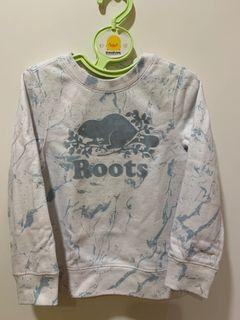 roots男童大學T