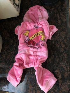 Small/Medium Pink Tracksuit for Dog