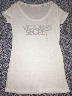 Victoria's Secret white rhinestone shirt size M