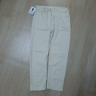 奶油色 米杏色 牛仔長褲