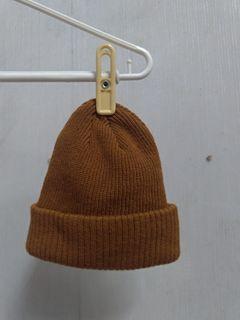古着 日系 土黃針織帽