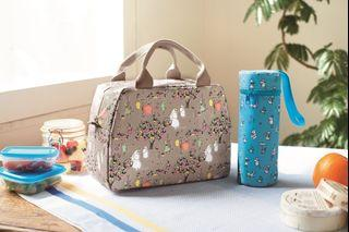 全新 包平郵 MOOMIN Valley x FINLAYSON Cool Bag & Bottle Holder 2pc Set 姆明 手挽袋 冰袋 水樽袋 日本雜誌附錄