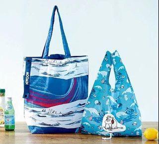 全新 包平郵 MOOMIN x Finlayson Two Convenient Original Pattern ECO Bag Set 姆明 側孭袋 環保袋 日本雜誌附錄