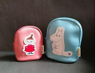 全新 包平郵 MOOMIN x SAMANSA MOS2 Friends of Moomin Valley Moomin & Little My Pouch 2pc Set 姆明 阿美 化妝袋 散紙包 日本雜誌附錄