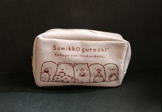 全新 包平郵 SAN-X Sumikko Gurashi White Pouch Cosmetic Bag w Window 角落小伙伴 角落生物 化妝袋 日本雜誌附錄