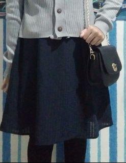 Blue crinkle skirt