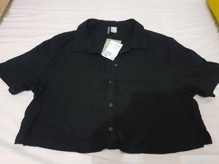 Crop Top blouse Hitam H&M (baca deskripsinya dulu ya)