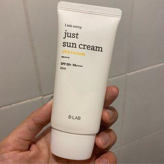 i am sorry just sun cream