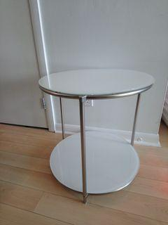 IKEA Strind Glass White side table