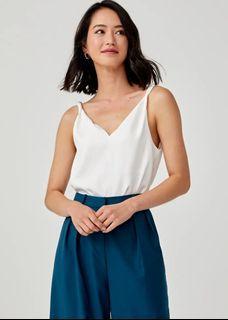 Indre Satin Twist Camisole (White)