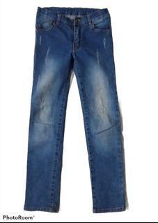 Jeans anak cewe,  import ripped jeans, celana panjang r