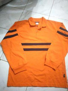 Kaos  lengan panjang orange untuk anak remaja #lebaran2021