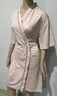 Kimono Tidur Pink Flowery Katun