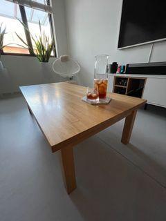 Minimalist Japandi Muji Oak Coffee Table