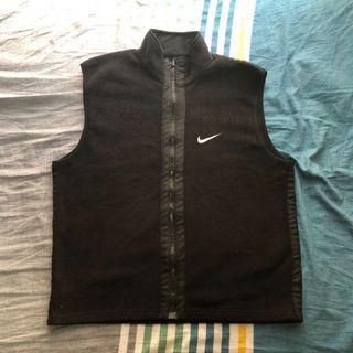 Nike 古著 黑色 搖粒絨 背心