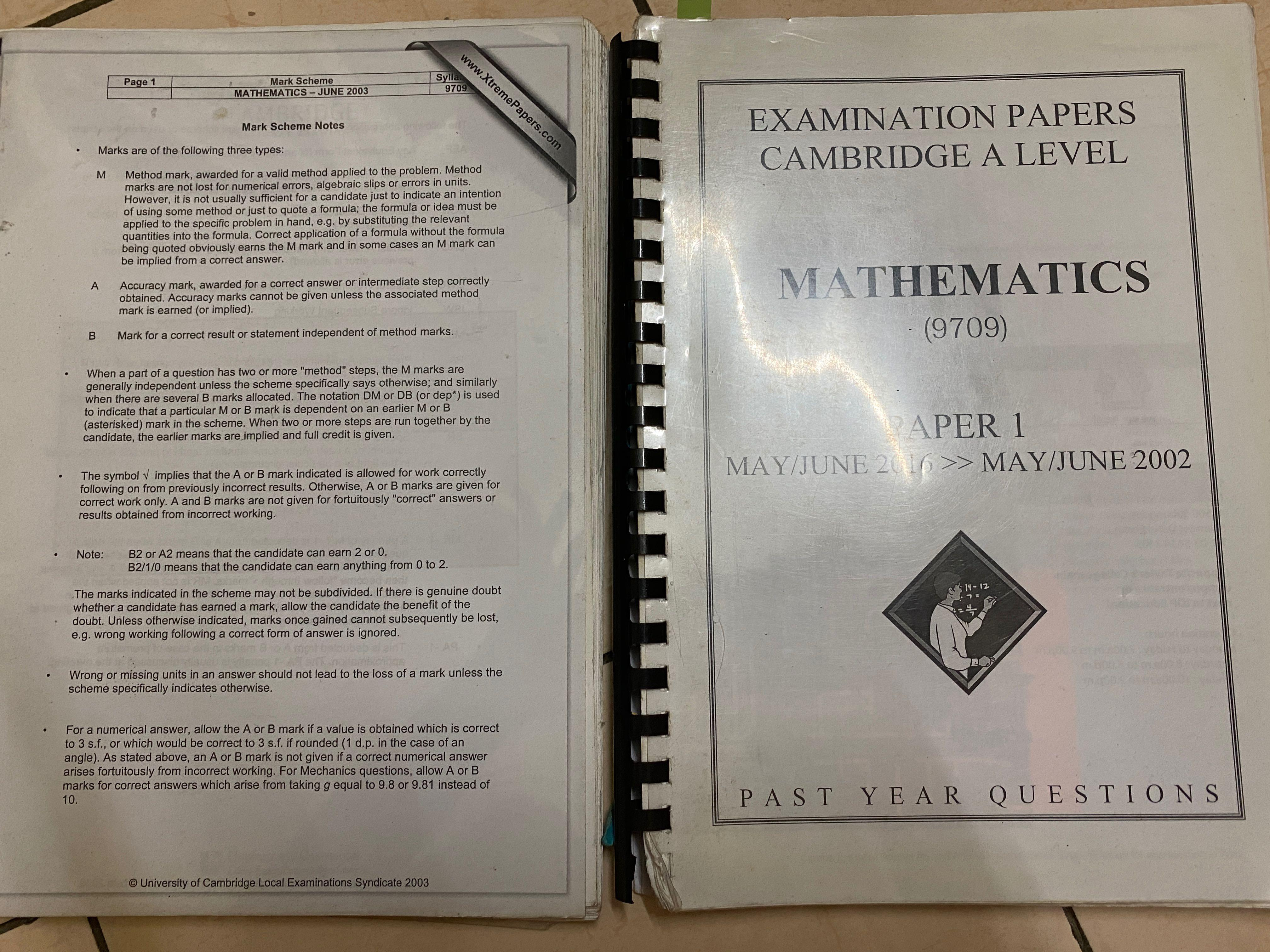 intermediate 2 maths past papers 2002