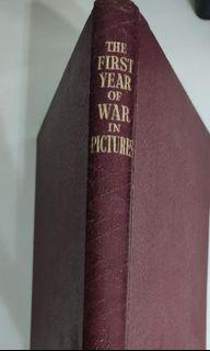 (RARE Vintage War Book)THE WAR IN PICTURES FIRST YEAR- Volume One (Year 1946)1st Edition - ODHAMS PRESS