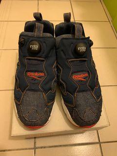 Reebok pump 牛仔拼布設計充氣鞋 US6.5 可議價