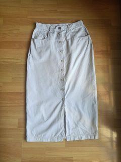 rok gap button skirt beige