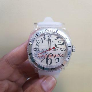 Tocs Crystal 8 womens watch white transparent