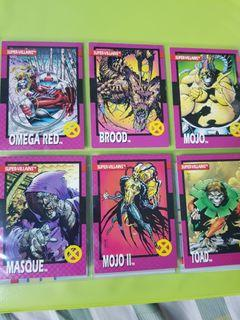 Vintage 1992 Xmen Cards Lot Sale  (Impel)