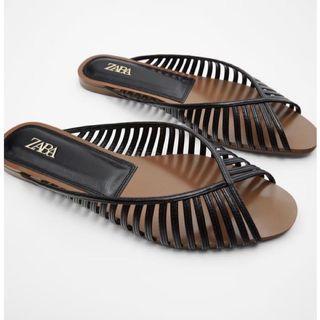 Zara V形鞋口細帶平底涼鞋37#排行榜
