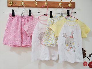 正韓兒童夏季網眼短袖套裝100cm二手衣