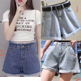 牛仔短褲 牛仔褲 短褲 熱褲 XL/XXL