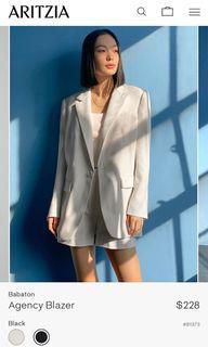 Aritzia Babaton Agency Blazer XS Black