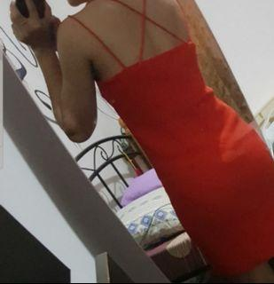 Authentic H&M double strap crossback dress
