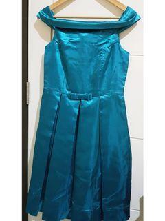 Blue Sabrina Party Dress
