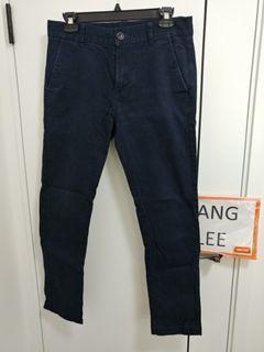 Fingercroxx navy chino 斜布 褲