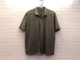 [H:CONNECT]-韓系涼感襯衫/工裝/橄欖綠/尺寸L