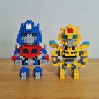 LOZ Nano Block Transformer Optimus Prime Bumblebee Galvatron Stinger