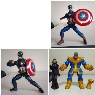 Marvel legends civil war mcu age of ultron captain america marvel select thanos