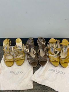 Pre loved Jimmy Choo heels and wedges (UK37.5)
