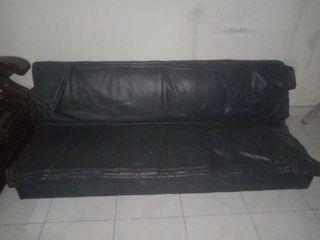 Sofa Bed Kulit Hitam