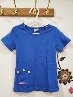 兒童夏季藍色短袖t恤11碼