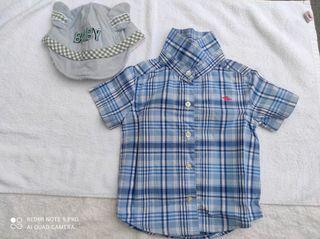 T-shirt Dan Topi Baby by Carter's (Ori)