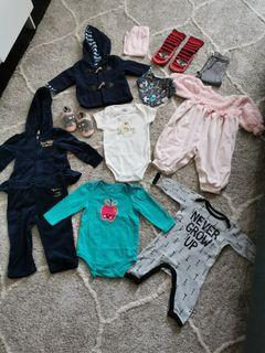 Various Sizes Girls Baby Clothes