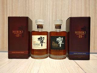 【已停產仿皮盒響17+21】已停產仿皮盒響17+21調和威士忌, 43%, 700ml x 2