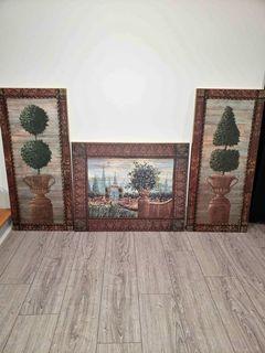 3 picture frames set