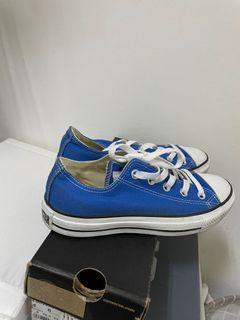 9.99全新 converse帆布鞋/藍