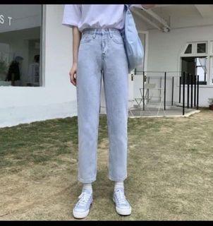 淺藍9分直筒牛仔褲+牛仔裙(cloudyplanets)
