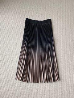 漸層百褶長裙