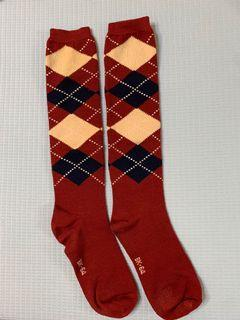 菱格紋長襪