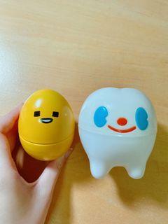 蛋黃哥、可愛牙齒小收納盒(買即贈)