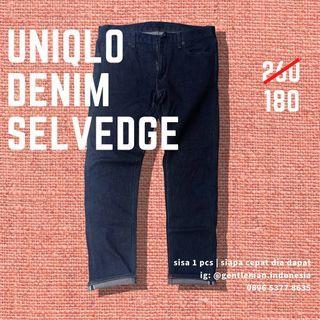 🇯🇵 (SISA SATU) Uniqlo Denim Selvedge (Jeans Celana)